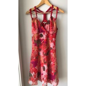 RW & Co Red Floral Summer Dress